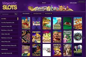 page jeux majestic slots